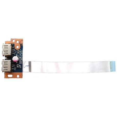 Плата USB разъёмов LS-4975P для ноутбука Toshiba L500