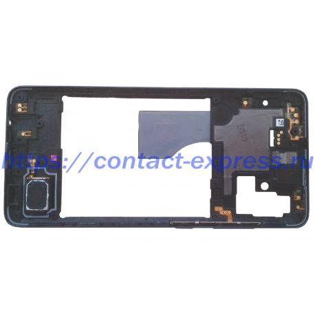 Средний корпус Samsung Galaxy A51, черного цвета